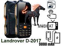 Телефон Land Rover Dbeif D2017 9800mAh TV Power Bank  Фонарик   Защищенный противоударный