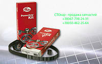 Комплект ГРМ Gates K015607XS (усиленный ремень 30.00 мм/141 зуб.+2 обводных ролика, 1 натяжной ролик, с крепежными материалами) (7883-10575)