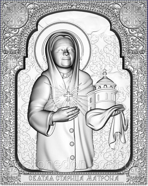 Икона Резная Святая Матрона Московская №2