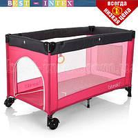 Детский Манеж M 3696-1 Розовый