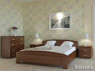 Ліжко двоспальне з натурального дерева в спальню Класика Орбіта