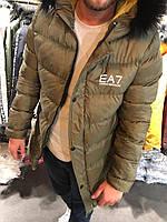 Мужская зимняя куртка,Emporio Armani EA7 с