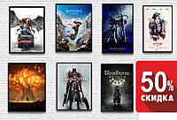 ЦЕНА -30%! Постеры на стену для дома, гостинной видеоигры, игровые плакаты Assassins Creed, LOL, Horizon