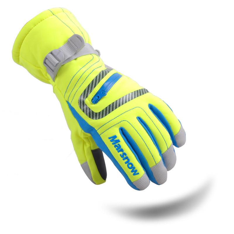 Перчатки лыжные Зеленые