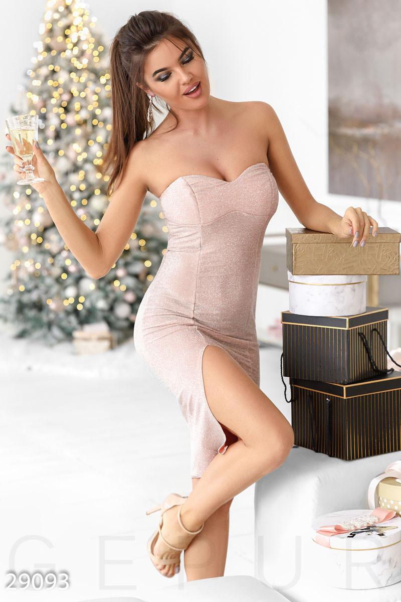 Вечернее люрексовое платье