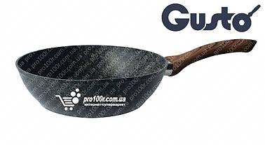 Сковорода 24 см глубокая Gusto Granite GT-2103-24