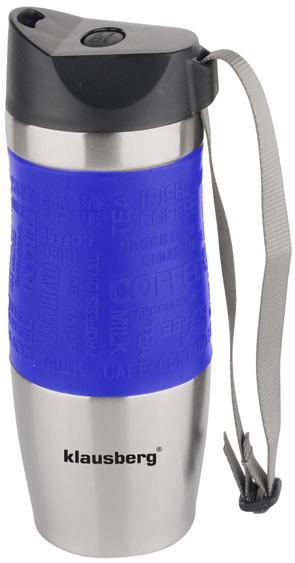 Термокружка КlausbergКВ-7101 380мл. Сріблясто-Синя