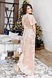 Бархатное платье-макси, фото 4