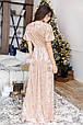 Бархатное платье-макси, фото 5