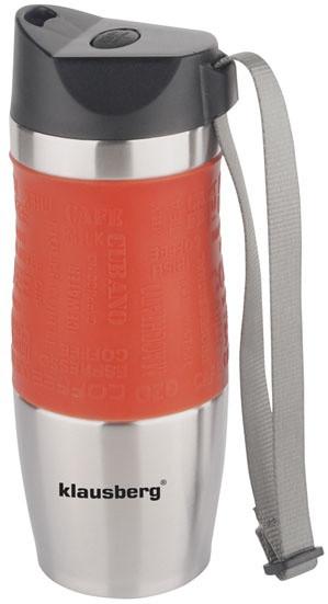 Термокружка КlausbergКВ-7101 380мл. Сріблясто-Оранжева