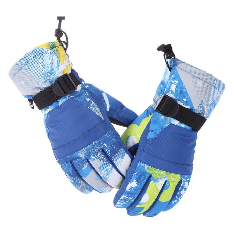 Перчатки лыжные сенсорные Синие