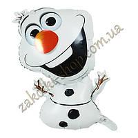 Фольгированные воздушные шары, форма: Снеговик Олаф из мультфильма Холодное сердце, 26 дюймов/70 см, 1 штука