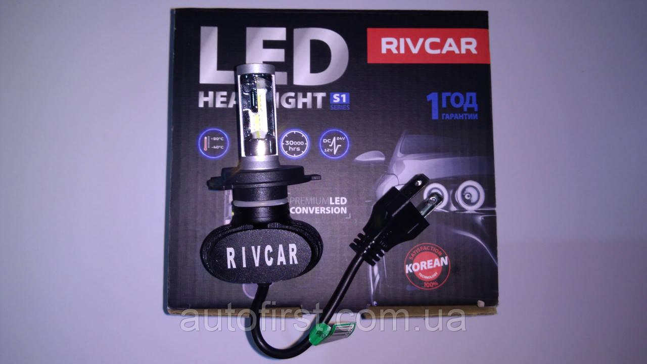 RIVCAR Лампа LED CSP V1 6000K H4