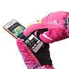 Перчатки лыжные сенсорные Розовые, фото 2