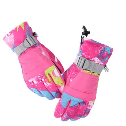Перчатки лыжные сенсорные Розовые