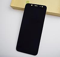 Дисплей (модуль) + тачскрин (сенсор) Samsung Galaxy J6 2018 J600 J600F J600G (черный, яркость регулируется)