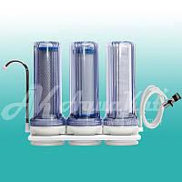 Очистка питьевой воды Фильтр на мойку трёхступенчатый FN-3