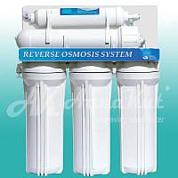 Очистка питьевой воды Осмос без помпы 50G RO-5 Е01 (нейтральный бренд, мембрана Hidrotek 50g, кран нажимной, без крана промывки)