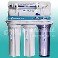 Очистка питьевой воды Осмос AquaKut без помпы 75G RO-5 Е01 (1 ступень прозрачная колба, кран керамический, Filmtek)