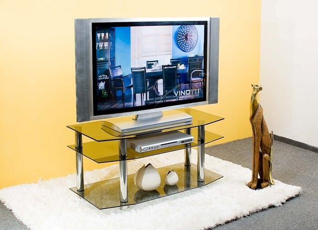 ТВ тумбы из стекла