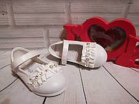 Нарядные белые туфельки для девочек