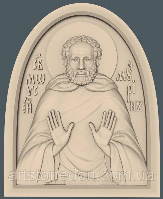 Икона резная Святой Моисей Мурин