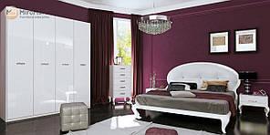 """Спальня """"Імперія"""" від Миро-Марк (глянець білий)."""