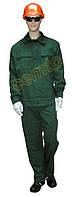 Костюм робочий літній саржа 100% бавовна, зелений, фото 1