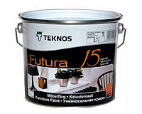 Эмаль уретан-алкидная TEKNOS FUTURA 15 быстросохнущая (полуматовая) 2.7 л