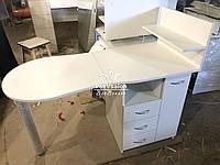Складной маникюрный столик с ящиком карго. Модель V298 белый, фото 1