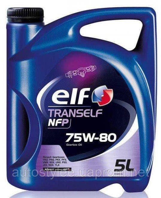 Масло трансмиссионное Elf Tranself NFP 75W-80 5 л.