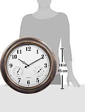 Уличные фасадные часы Ing-Never Stop с термометром и влажностью, фото 3