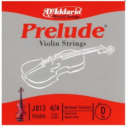Струна D для скрипки  (никелевая намотка) D`ADDARIO J813 4/4M Prelude D 4/4M, фото 2