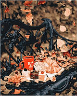 Картина-раскраска (цветной холст)  Осенний чай 40 х 50 см (PGX25456)