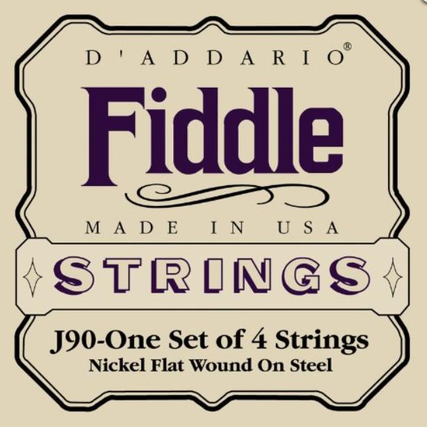 Струны для Fiddle Размер 4/4 скрипки D`ADDARIO J90 Fiddle