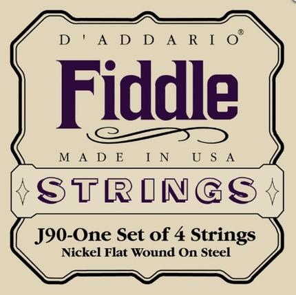 Струны для Fiddle Размер 4/4 скрипки D`ADDARIO J90 Fiddle, фото 2