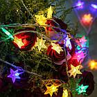 """Світлодіодна гірлянда VENOM """"Зірка"""" 30LED RGB, білий провід (LS-STAR-30LED-WC-RGB) RGB, фото 6"""