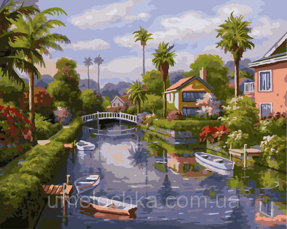 Картина по номерам На берегу канала 40 х 50 см (BRM9271)