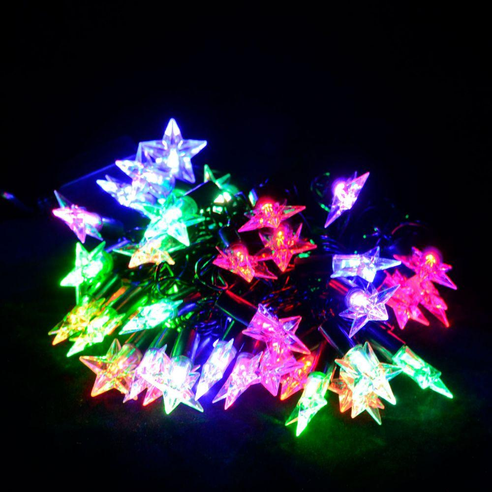 "Гирлянда светодиодная VENOM ""Звезда"" 40LED, черный провод (LS-STAR-40LED-BC-RGB) RGB"