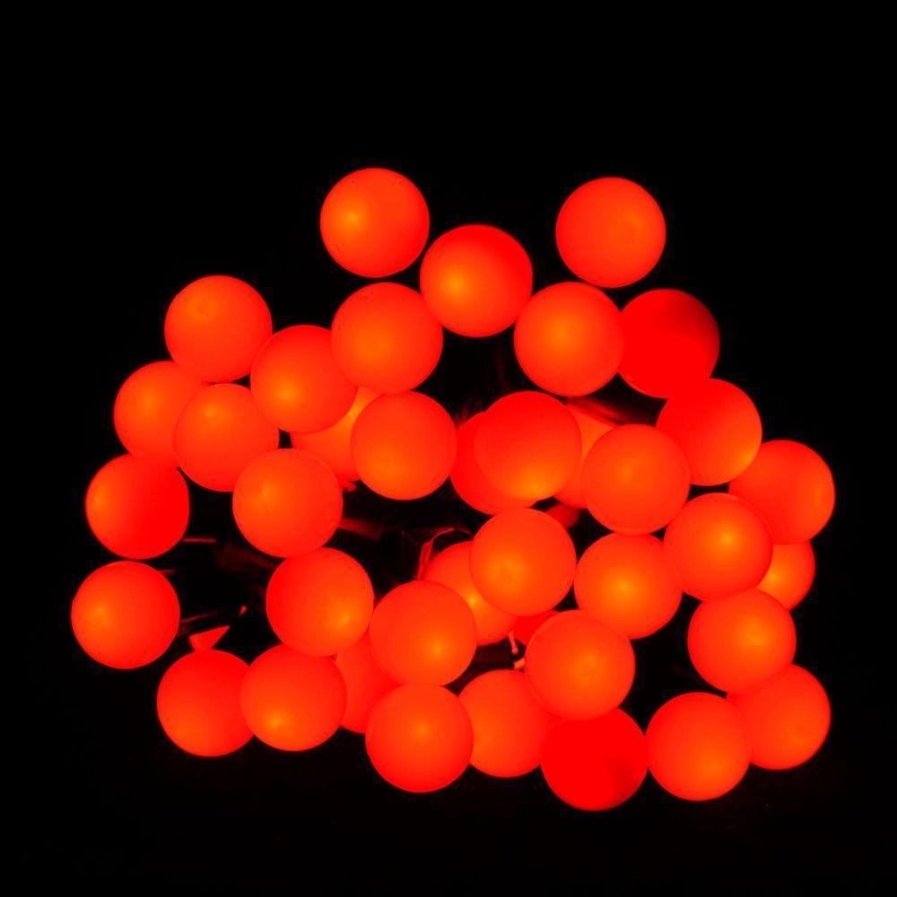 """Світлодіодна гірлянда VENOM """"Кульки"""" 40LED, чорний дріт (LS-CONE-40LED-BC-R) Червоний"""