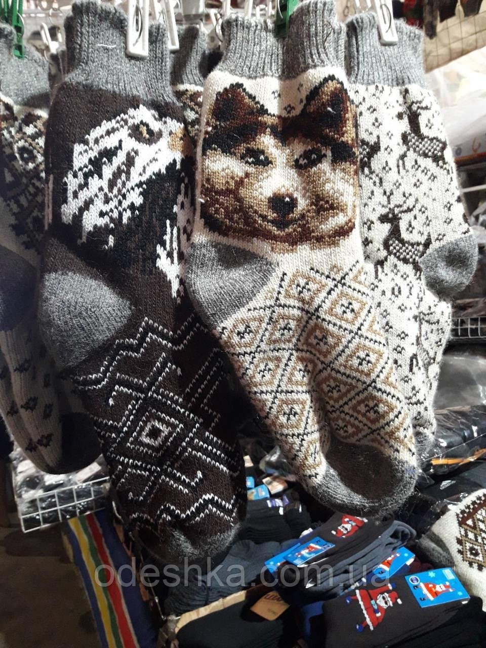 Чоловічі вовняні шкарпетки