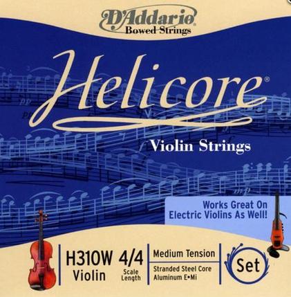 Струны для скрипки Размер 4/4 D`ADDARIO H310W HELICORE 4/4M, фото 2