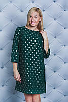 Платье женское короткое зеленое