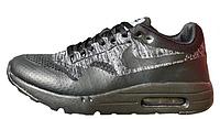 "Кроссовки Nike Air Max 1 Ultra Flyknit ""Black/Grey"" Арт. 2030, фото 1"