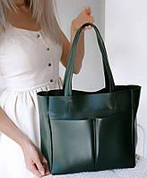 Женская сумка шопер в зеленом цвете АРТ. 01024, фото 1