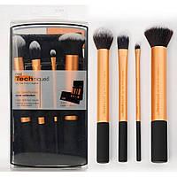 Набор кистей для макияжа RT CORE COLLECTION 4 штуки + чехол (10001)