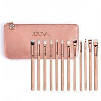 Набор кистей для макияжа ZOEVA ROSE GOLDEN 12 шт + косметичка (10012)