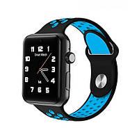 Smart watch М3 для iOS/Android blue@black (фитнес функции, телефон), фото 1