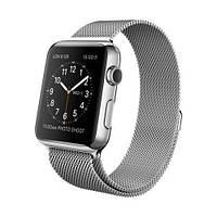 Ремешок Milanese Loop для Apple Watch 42/44mm металлический серебристый магнитный ARM Series 5 4 3 2 1 silver