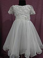 Платье детское нарядное белое на 4-6 лет